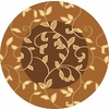 Rugs America Torino Vineyard Brown Round Indoor Woven Area Rug (Actual: 5.25-ft Dia)