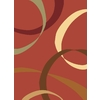 Rugs America Torino 5-ft 3-in x 7-ft 10-in Rectangular Orange Transitional Area Rug
