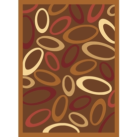 Rugs America Torino Circles Brown Rectangular Indoor Woven Throw Rug (Common: 2 x 3; Actual: 24-in W x 35-in L)