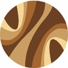 Rugs America Torino Swirls Brown Round Indoor Woven Area Rug (Actual: 5.25-ft Dia)