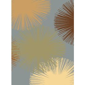 Rugs America Torino Fireworks Light Blue Rectangular Indoor Woven Area Rug (Common: 5 x 8; Actual: 63-in W x 94-in L)