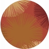 Rugs America Torino 5-ft 3-in x 5-ft 3-in Round Orange Transitional Area Rug