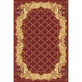 Rugs America New Vision 5-ft 3-in x 7-ft 10-in Rectangular Red Floral Area Rug