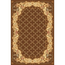 Rugs America New Vision 24-in x 35-in Rectangular Tan Floral Accent Rug