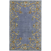 Rugs America Flora 7-ft x 9-ft Rectangular Blue Floral Area Rug
