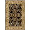 Rugs America New Vision 24-in x 35-in Rectangular Black Floral Accent Rug