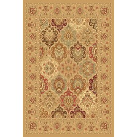 Rugs America New Vision Panel Berber Rectangular Indoor Woven Area Rug (Common: 8 x 10; Actual: 94-in W x 130-in L)