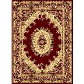 Rugs America New Vision Kerman Red Rectangular Indoor Woven Area Rug (Common: 9 x 12; Actual: 118-in W x 158-in L)