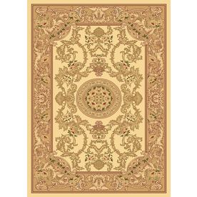 Rugs America New Vision 9-ft 10-in x 13-ft 2-in Rectangular Beige Floral Area Rug