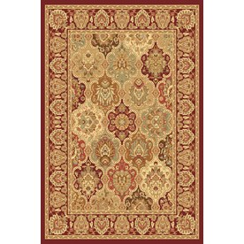 Rugs America New Vision 9-ft 10-in x 13-ft 2-in Rectangular Red Floral Area Rug