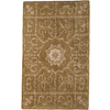 Rugs America Flora 8-ft x 11-ft Rectangular Tan Floral Area Rug