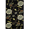 Rugs America Pacific 8-ft x 11-ft Rectangular Black Floral Area Rug