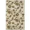 Rugs America Pacific 7-ft x 9-ft Rectangular Beige Floral Area Rug
