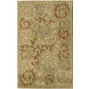 Rugs America Pacific 8-ft x 11-ft Rectangular Beige Floral Area Rug