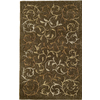 Rugs America Pacific 8-ft x 11-ft Rectangular Tan Floral Area Rug