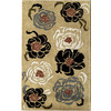 Rugs America Pacific 8-ft x 11-ft Rectangular Cream Floral Wool Area Rug