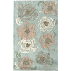 Rugs America Pacific 8-ft x 11-ft Rectangular Blue Floral Area Rug