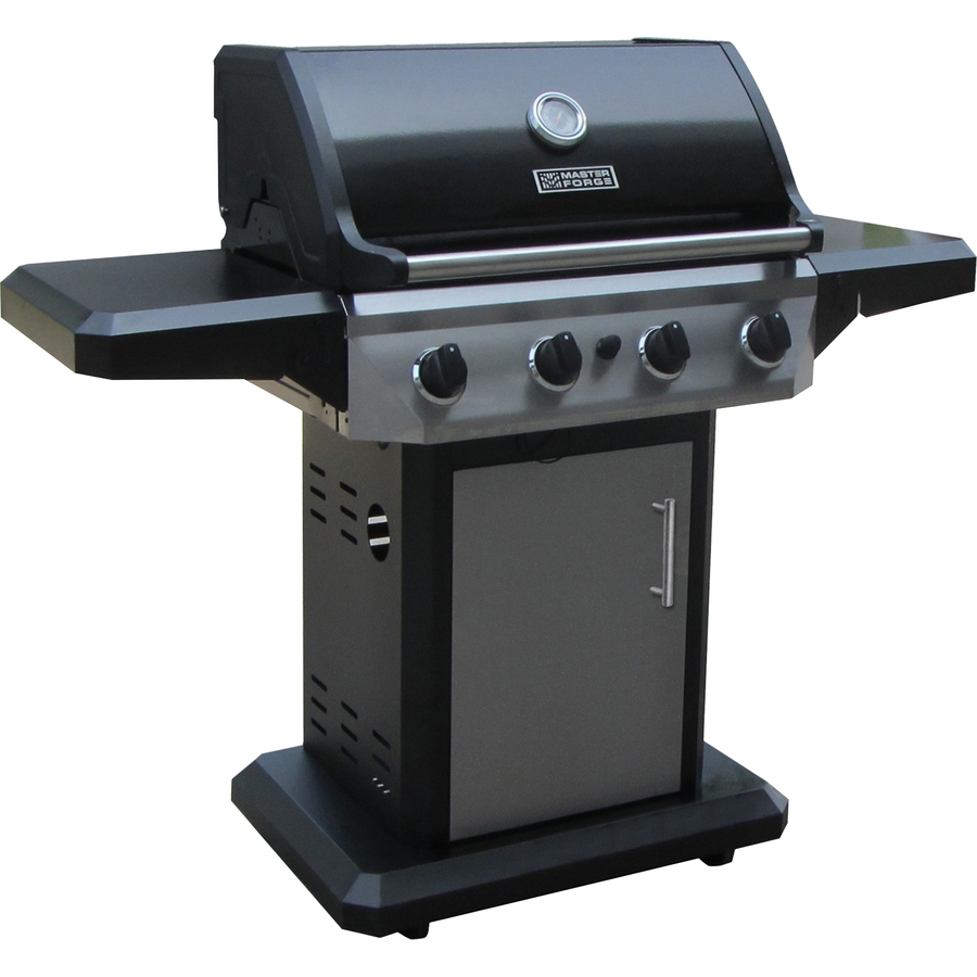 shop master forge 4 burner 48 000 btu liquid propane gas grill at. Black Bedroom Furniture Sets. Home Design Ideas