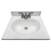 US Marble Ambassador 101- White On White Cultured Marble Integral Bathroom Vanity Top (Common: 19-in x 17-in; Actual: 19-in x 17-in)