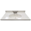 US Marble Ambassador White on White Cultured Marble Integral Bathroom Vanity Top (Common: 31-in x 19-in; Actual: 31-in x 19-in)