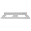 US Marble Rushmore Solid Surface Undermount Double Sink Bathroom Vanity Top (Common: 61-in x 22-in; Actual: 61-in x 22-in)