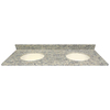 US Marble Santa Cecilia Light Granite Undermount Double Sink Bathroom Vanity Top (Common: 61-in x 22-in; Actual: 61-in x 22.25-in)