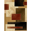 United Weavers Of America China Garden Brown Rectangular Indoor Woven Area Rug (Common: 5 x 8; Actual: 63-in W x 86-in L)