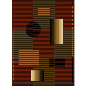 United Weavers Of America China Garden Red Rectangular Indoor Woven Area Rug (Common: 5 x 7; Actual: 63-in W x 86-in L)
