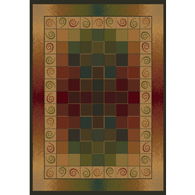 United Weavers Of America Genesis Brown Rectangular Indoor Woven Area Rug (Common: 8 x 10; Actual: 94-in W x 126-in L)