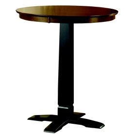 Hillsdale Furniture Dynamic Designs Black Round Dining Table