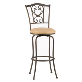 Hillsdale Furniture Concord Brown 30-in Bar Stool