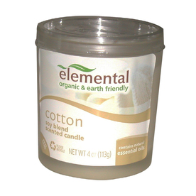 elemental 4-oz Cotton Scented Candle