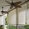 Coolaroo Mocha Light Filtering PVC Exterior Shade (Common 120-in; Actual: 122.75-in x 72-in)