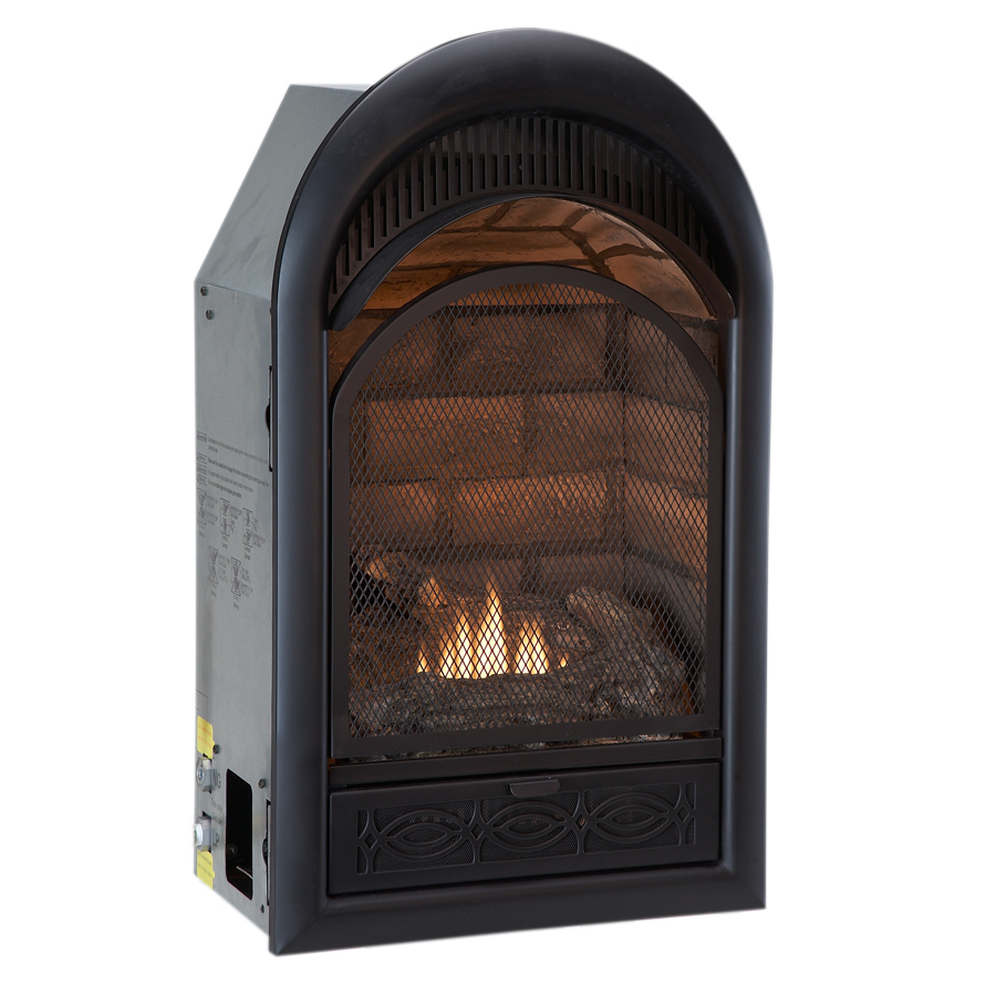 Shop Procom 29 In W 20 000 Btu Black Vent Free Dual Burner Gas Fireplace Firebox At