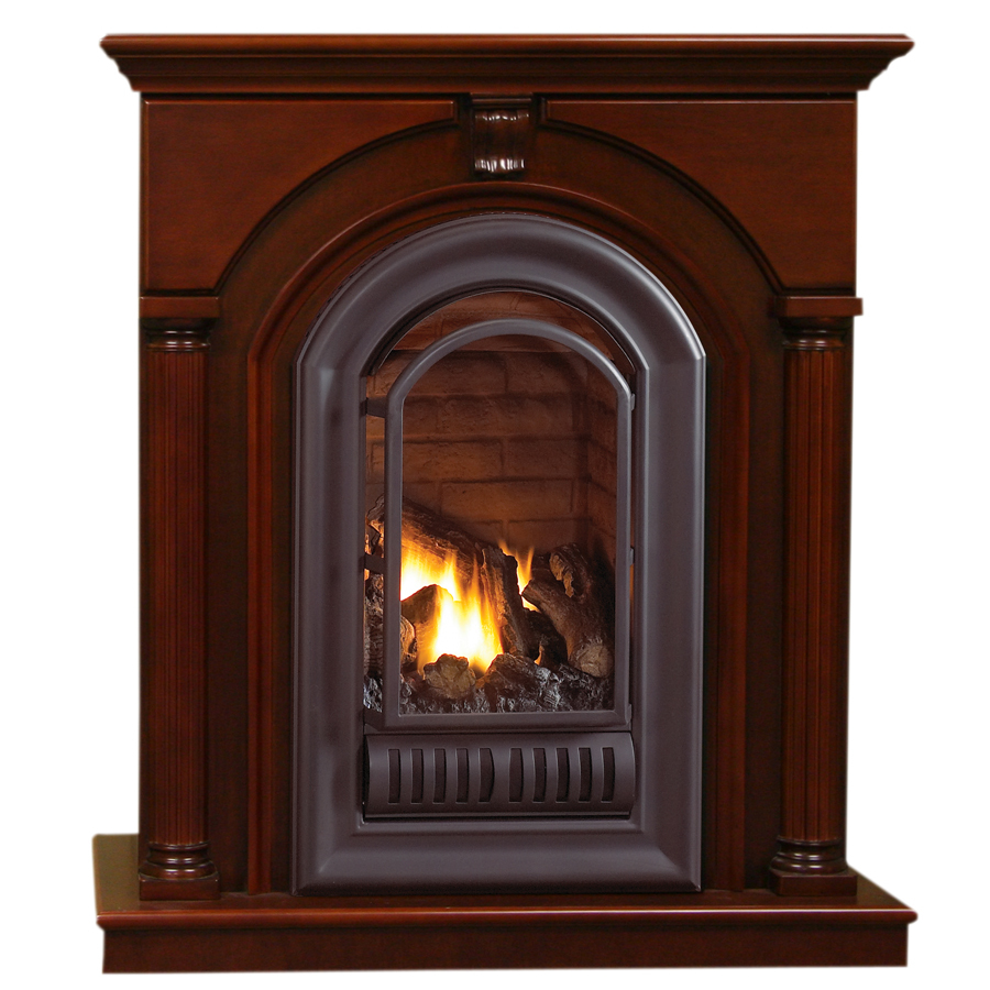 shop procom traditional cherry mantel at