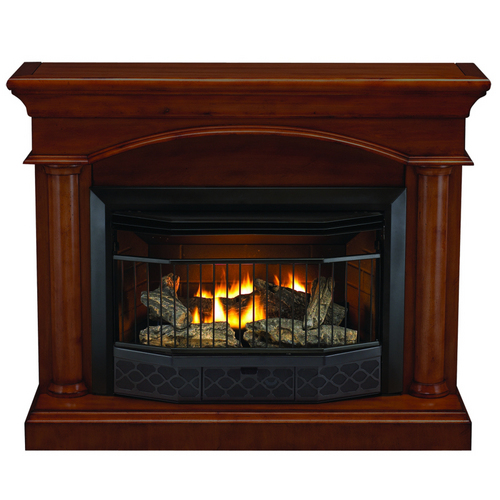 COMPACT VENT FREE GAS FIREPLACE WITH MANTEL – Fireplaces