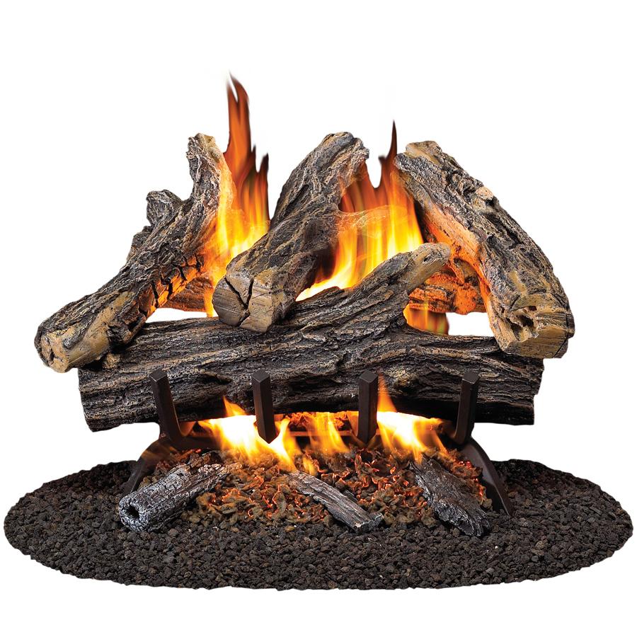 Shop Procom 19 8 In W 16 In W 45 000 Btu Dual Vented Gas Fireplace Logs At