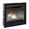 ProCom 35-in W 32,000--BTU Black Vent-Free Dual-Burner Gas Fireplace Insert with Thermostat and Remote Control