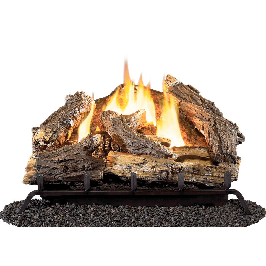 Shop Style Selections 24 Vent Free Gas Logs With Thermostat At