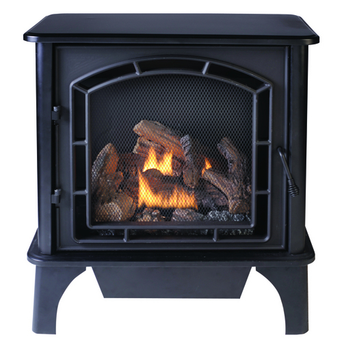 Shop Allen Roth 23000 Btu 3 Sided Contemporary Vent Free Gas Stove