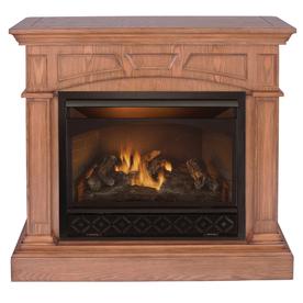 shop procom 32000 btu vent free gas fireplace at