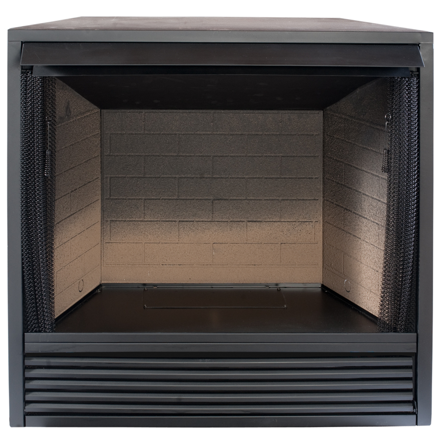 Shop Procom 35 In W Black Vent Free Gas Fireplace Firebox Without Logs At
