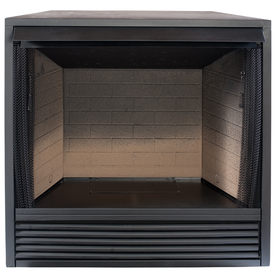 ProCom 35-in W Black Vent-Free Gas Fireplace Firebox Without Logs