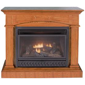 shop procom medium oak vent free gas fireplace at