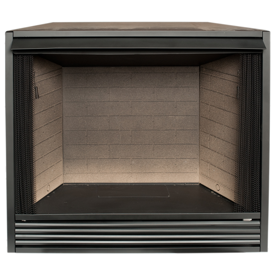 Shop Procom 43 In W Black Vent Free Gas Fireplace Firebox