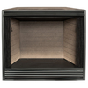 ProCom 43-in W Black Vent-Free Gas Fireplace Firebox Without Logs