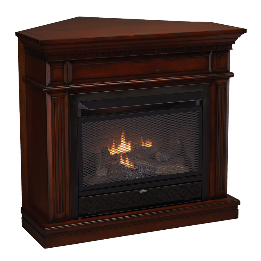 Shop Cedar Ridge Hearth 42 In Dual Burner Vent Free Auburn Corner Or Wall Mount Liquid Propane