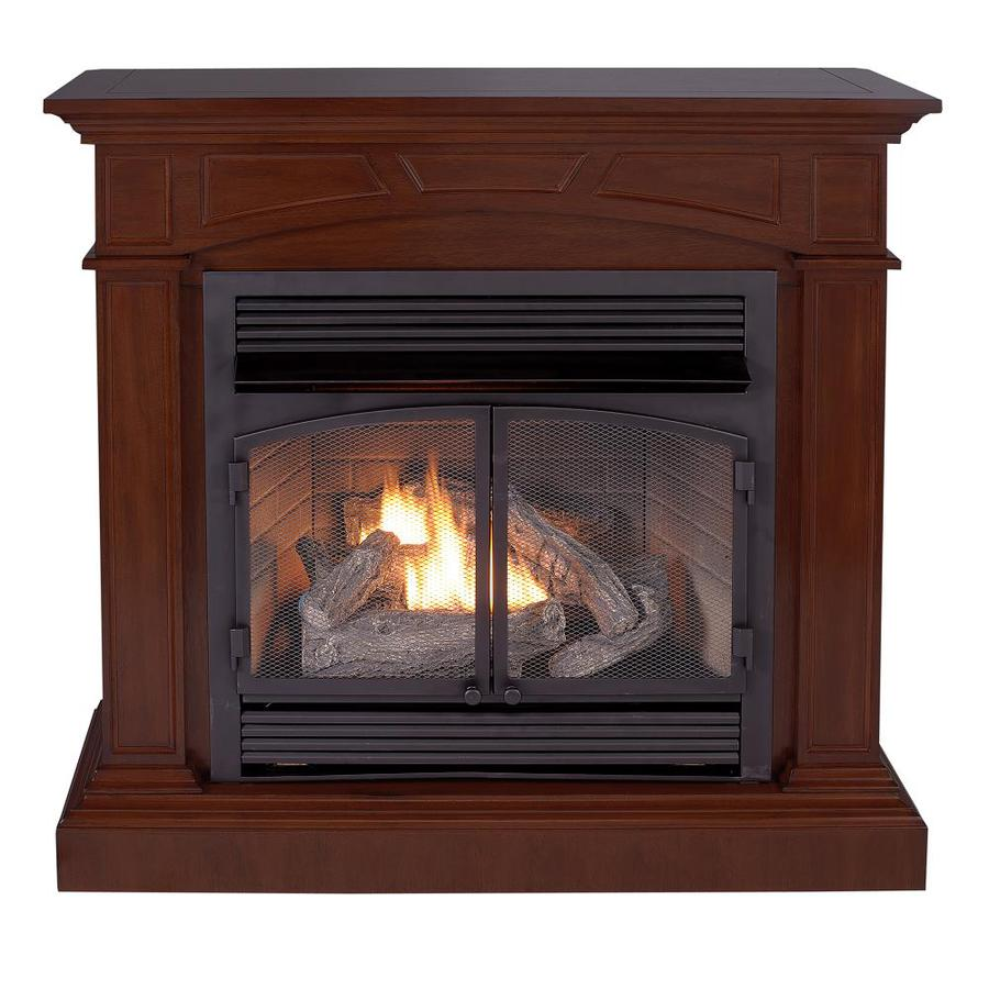 Shop Cedar Ridge Hearth Dual Burner Vent Free Mink Corner Or Wall Mount Liquid Propane