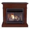 Cedar Ridge Hearth 44.53-in Dual-Burner Vent-Free Mink Corner or Wall-Mount Liquid Propane and Natural Gas Fireplace