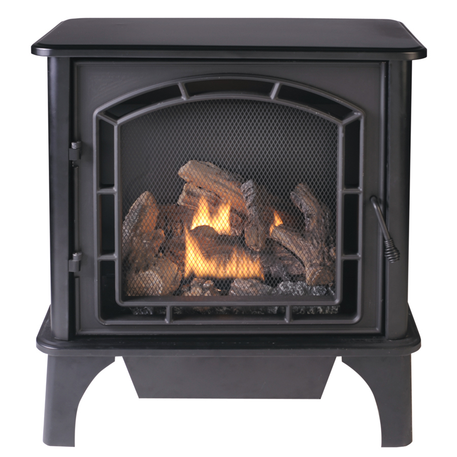 Shop Cedar Ridge Hearth Dual Burner Vent Free Black Corner Or Wall M